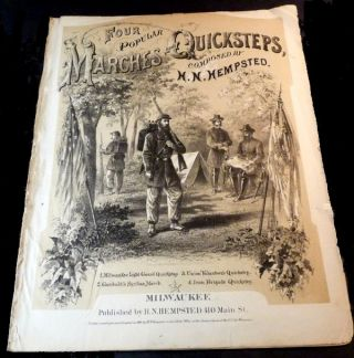 The Milwaukee Light Guard Quickstep. [Sheet Music]. H. N. Hempstead.