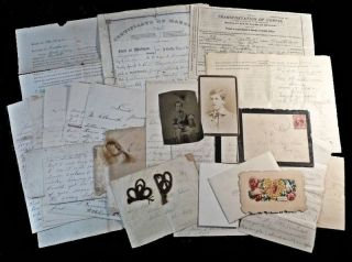 Archive of approximately 40 items between 1861 and 1905 from the Isham Family of Michigan including a Civil War Battle Field Letter and a Letter acknowledging Post-War Morphine Addiction.