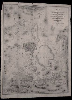 Map of the Valley of Mexico with a Plan of the Defences of the Capital and the Line of Operations...