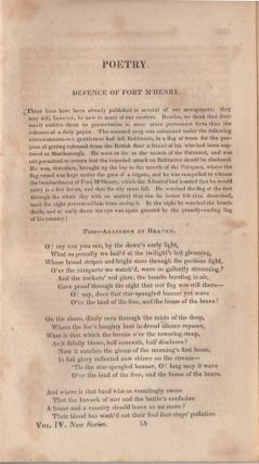 Defence of Fort McHenry [The Star-Spangled Banner]. Francis Scott Key.