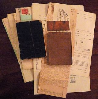 World War One America Soldier's Trench Diaries and Papers