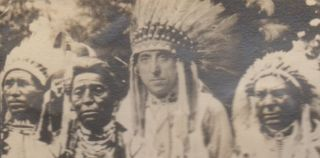 Fantasy Stereoview Showing Joseph Clarence Grimm as a Native American Chief