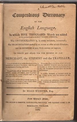 A Compendious Dictionary of the English Language. . . .