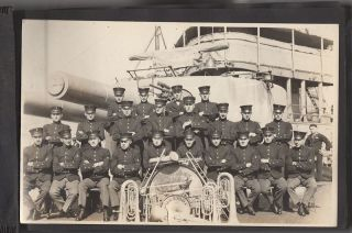 World War One Photograph Album - Navy Band Member aboard the U.S.S. Iowa and in France
