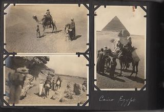 Photograph Album of a Tour of Asia and Egypt Aboard the Cargo Liner, Shinyo Maru.