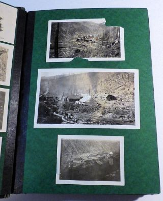 Photograph Album Documenting Pacific Northwest Lumbering Operations: 1910s-1920s