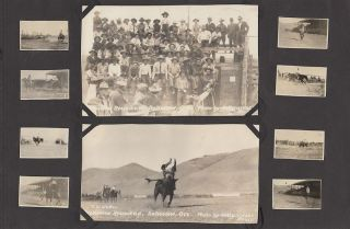 Rodeo Photograph Album-Scrapbook from Oregon, 1922