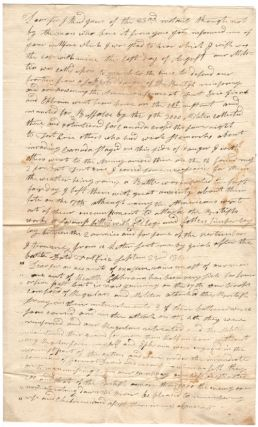 War of 1812 American Militia Letter - The Siege of Fort Erie