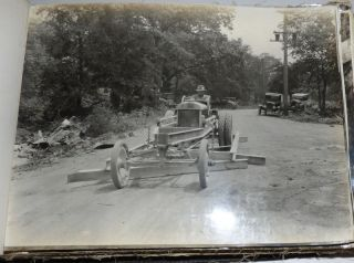 Road Construction Equipment Photo Album from the Burch Plow Works Company. Unidentified.