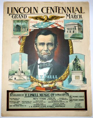 Lincoln Centennial Grand March (Sheet Music)