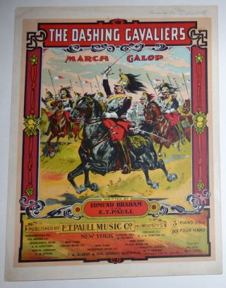 The Dashing Cavaliers March Galop (Sheet Music). Edmund Braham, E. T. Paull.