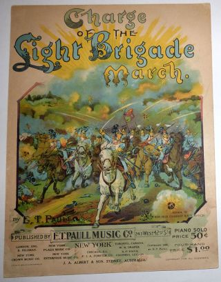 Charge of the Light Brigade March - Sheet Music. E. T. Paull.