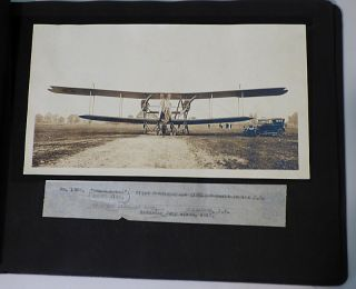 "Photograph Album Documenting the Inaugural Flight of the First Handley Page Bomber Built in the United States, ""The Langley"""