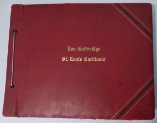 Scrapbook Documenting Three Years in the Life of Don Gutteridge, the Third Baseman for the St. Louis Cardinals Gas House Gang