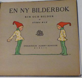 En Ny Bilderbok. Rim och Bilder (Ein neues Bilderbuch. Reime und Bilder) (A New Picture Book. Rhyme and Pictures)
