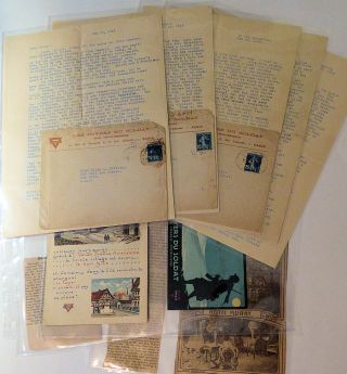 Collection of Letters and Ephemera froma Female YMCA Worker in World War I France.