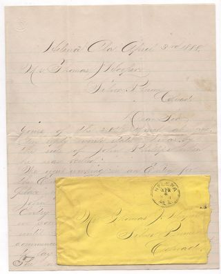Fatal Coal Mine Accident – Letter and Death Certificate for John Phillips.