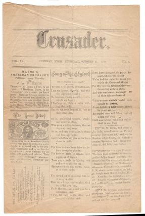 Song of the Shylock in a Greenback Party newspaper, Mason's American Crusader.