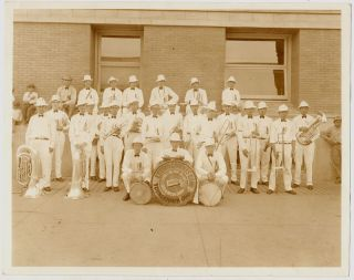 Letter Carrier's Band Photograph with Four Other Postal Photographs: National Association of...
