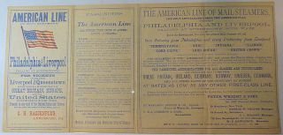 Advertising Brochure for the America Line of Mail Steamers.