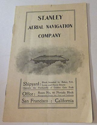 Prospectus for the Stanley Aerial Navigation Company
