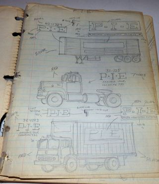 Three Sketchbooks of Original Art Documenting Construction Projects in Pennsylvania and Maryland