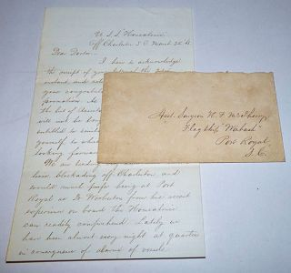 Naval Surgeon's Letter from the USS Housatonic, the First Ship Ever Sunk by a Submarine
