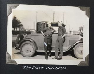 Photograph Album Documenting Three Cross-County Automobile Trips