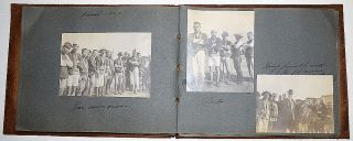 Photograph album documenting the travel of a California sugar magnate and his wife. Mrs. Anna...
