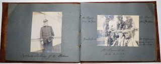 Photograph album documenting the travel of a California sugar magnate and his wife
