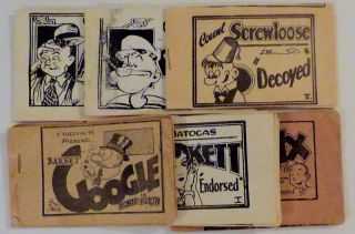 Collection of Six Tijuana Bible 8-Pagers (Explicit underground comic books). authors