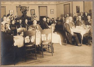 Photograph Album with Images taken at an annual meeting of the New England Fat Mens Club.