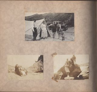 Photograph album documenting life in the Los Angeles area during World War I