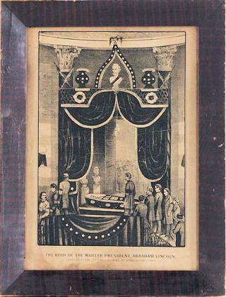 The Body of the Martyr President, Abraham Lincoln Lying in State at the City Hall, NY April 24th & 25th 1865