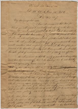 Early 19th century American missionary correspondence from the Ship Saco and India. E. S. Nichols