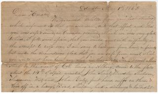 Letters to a Civil War deserter who escaped to Canada