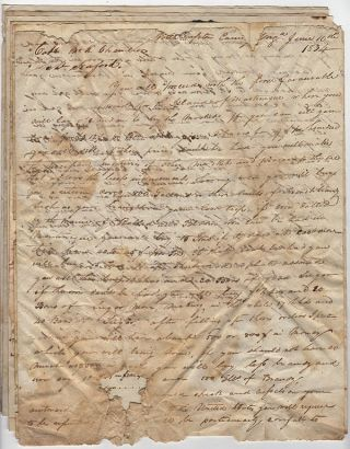 Small archive of papers relating to the Schooner Seaford and Littleton Waller Tazewell, a former Governor of Virginia