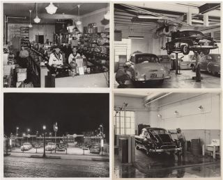 Four photographs of a Chevrolet dealership
