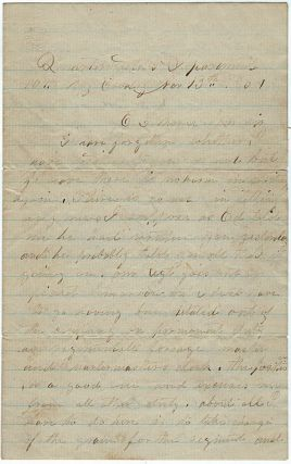 Civil War letter from a Union cavalryman discussing Confederate bushwhackers in the Shenandoah Valley