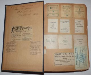 Business scrapbook maintained by an orchestra leader and carnival/fair promoter. Frank R. Graves.