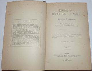 Souvenirs of Military Life in Algeria (2 volumes)