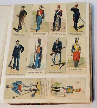Collection of 345 Sweet Caporal military uniform tobacco cards (N224)