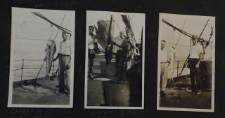 Photograph album documenting six years in the life of an itinerate west coast laborer, whaler, and general seaman.
