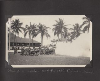 Photograph album documenting a Marine's life while stationed in pre-World War II Guam