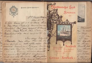 Young Pennsylvania woman's travel journal-scrapbook documenting her tour of Europe. Mary B. McKnight.