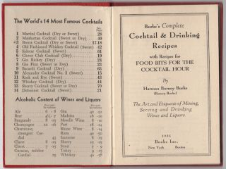 Burke's Complete Cocktail & Drinking Recipes with Recipes for Food Bits for the Cocktail Hour: The Art and Etiquette of Mixing, Serving and Drinking Wines and Liquors