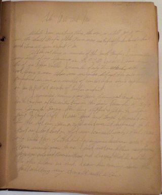 World War II American prisoner of war's handwritten memoir-journal and photograph album