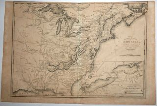 United States of America, Exhibiting the Seat of War on the Canadian Frontier from 1812 to 1815 from The History of the Wars of the French Revolution . . . Comprehending the Civil History of Great Britain and France during that Period. Samuel John, Neele.
