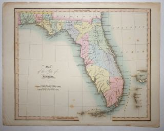 Map of the State of Florida from An Atlas of the United States of North America.