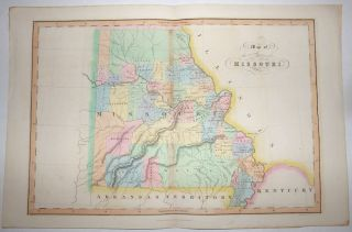 Map of the State of Missouri from An Atlas of the United States of North America.